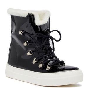 Jeffrey Campbell Cimone Faux Fur Lined Boot Black